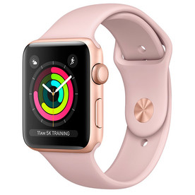 Apple Watch Series 3 38mm Gold Aluminium Pink Sand Sport Band