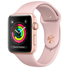 Apple Watch Series 3 42mm Gold Aluminium Pink Sand Sport Band