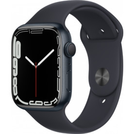 Apple Watch Series 4 44mm Space Gray Aluminium Case With Black Sport Band